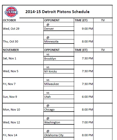 Sizzling image for detroit pistons printable schedule