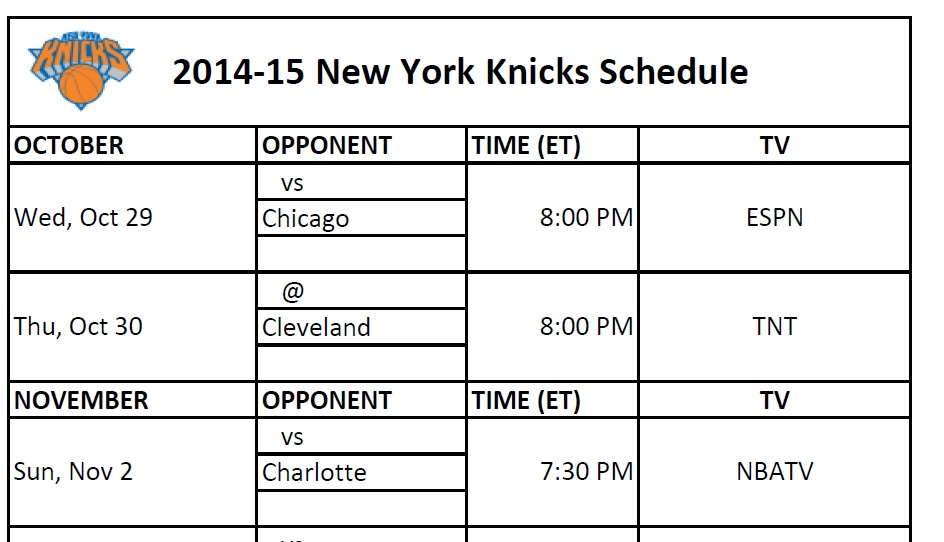 Enterprising image throughout knicks printable schedule