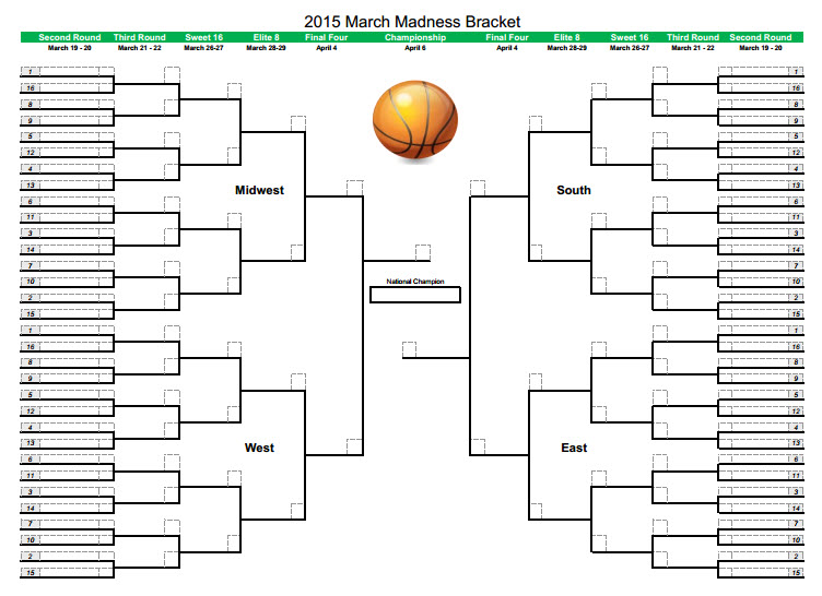 printable march madness bracket - photo #28