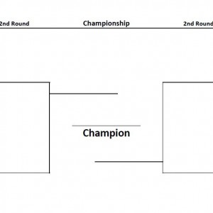 Printable Bracket: 8 teams 2 sided
