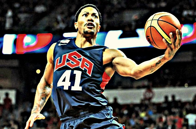 Derrick Rose for Team USA Basketball / TV Schedule for FIBA World Cup