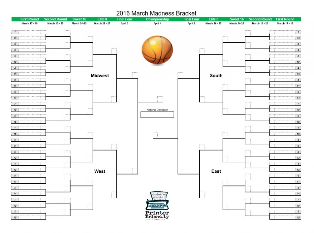 printable march madness bracket - photo #6