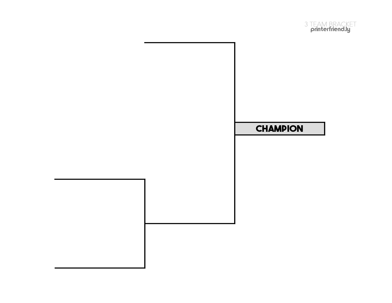 3 team printable tournament bracket