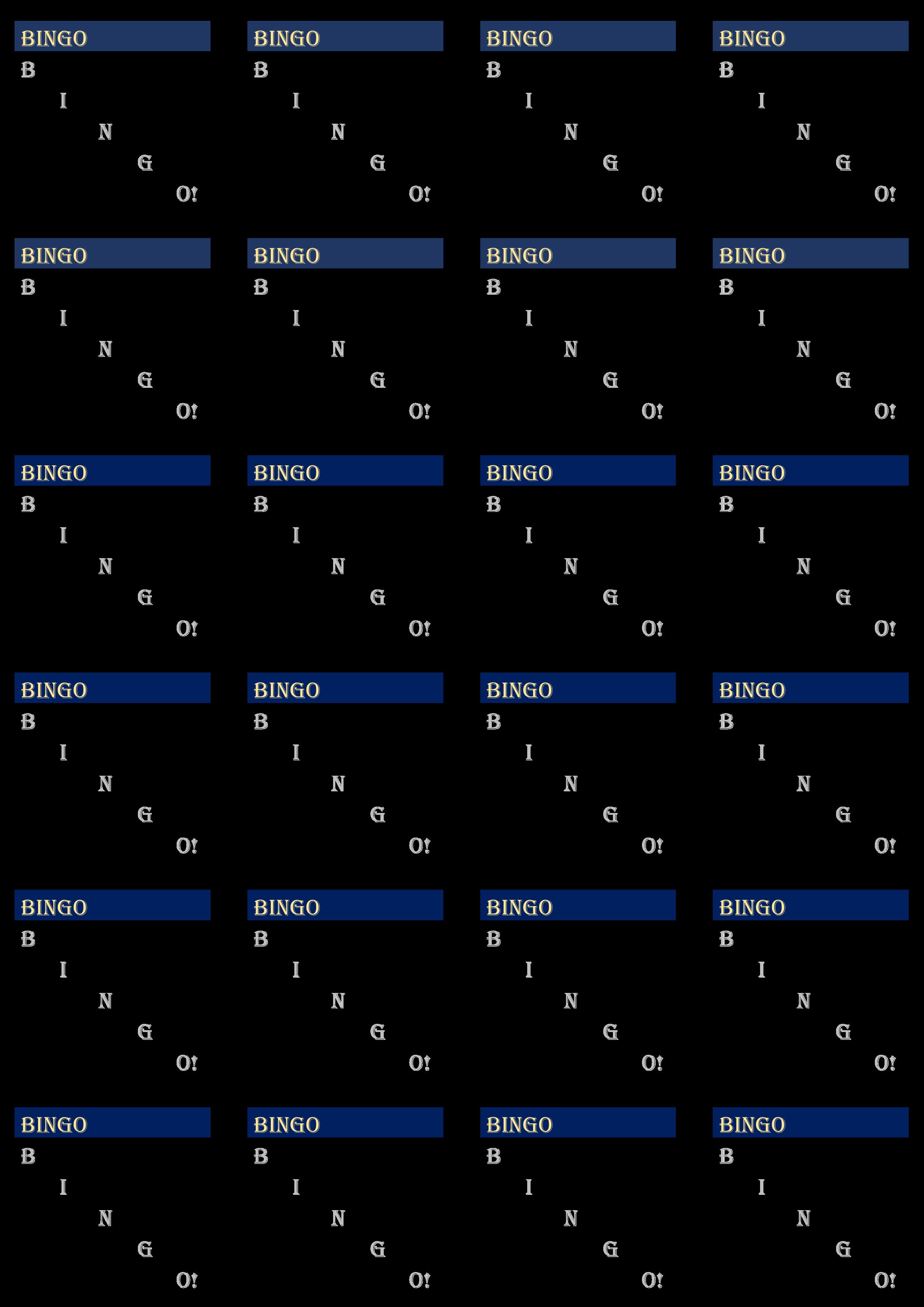Bingo Card Templates Make Your Own Bingo Cards Printerfriendly